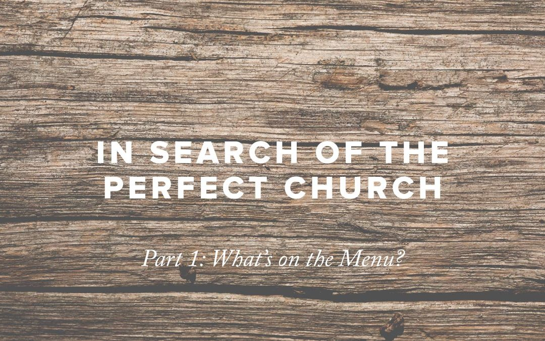 In Search of the Perfect Church – Part 1: What's on the Menu?