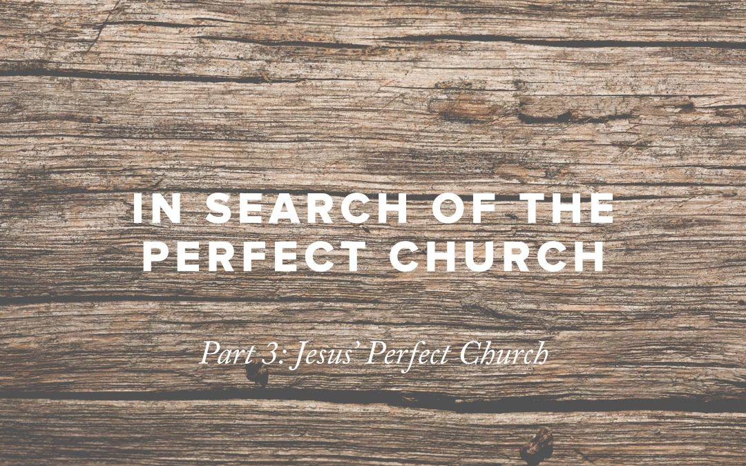 In Search of the Perfect Church – Part 3: Jesus' Perfect Church
